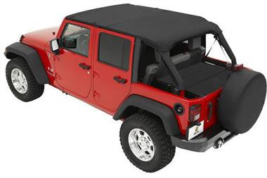 Bestop BST52594-35 Safari Bikini Top and Windshield Channel Fits 2010 to 2016 JKU Wrangler