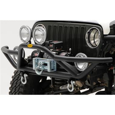 Smittybily SRC Front Grille Guard Bumper with D-ring Mounts-Fits 1987 to 2006 Jeep Wrangler