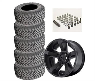 Toyo Open Country Mud Terrain 35x12.50R-17LT and XD Series XD811 Rockstar II Wheel Package - Set of 5