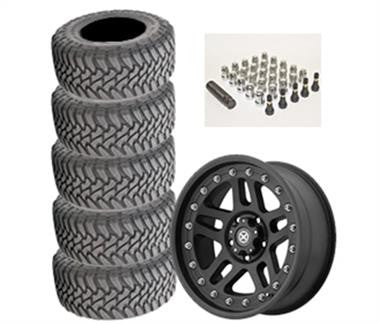 Toyo Open Country Mud Terrain 35x12.50R-17LT and ATX Cornice AX195 17x9 Wheel Package - Set of 5