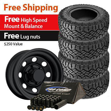 Goodyear Duratrac Tire 31x10.50R15 and Trail Master TM9 Wheels 15x8 Package - Set of 4