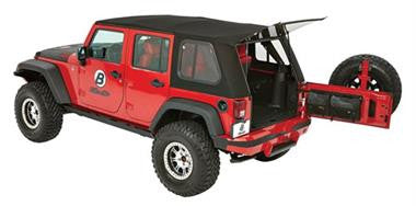 Bestop 54853-17 Trektop Pro Hybrid Black Twill Soft Top for Wrangler JK 4-Door