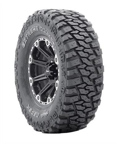 Dick Cepek Extreme Country 35x12.50xR15/C, Procomp 52 15x8, Blk Center Caps & lug nuts Set of 5