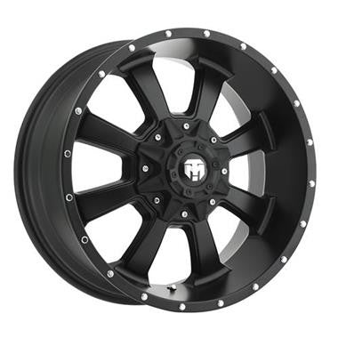 Trail Master Alloy Wheels 17x9 with 5 on 5 and 5 on 4.5 Bolt Pattern - Satin Black