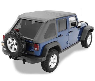 Bestop Trektop NX with Tinted Windows and without Doors in Black Diamond