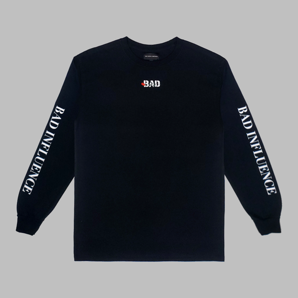 "Bad News Company ""Bad Influence"" Long Sleeve T-Shirt (BLACK)"