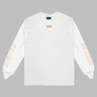 "Bad News Company ""No Love"" Long Sleeve T-Shirt (WHITE)"