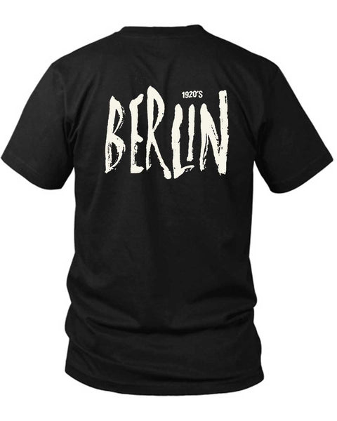 1920 Berlin 2 Sided Black Mens T Shirt