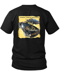 1976 Pontiac Trans Am 2 Sided Black Mens T Shirt