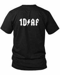 1D Af 2 Sided Black Mens T Shirt