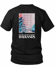 1 800 Halsey Badlands 2 Sided Black Mens T Shirt