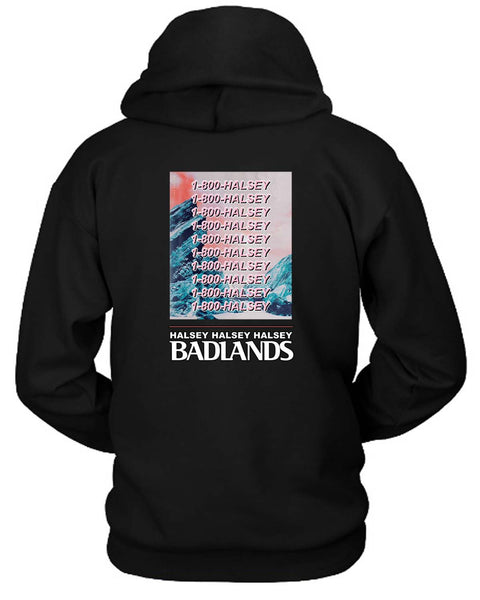 1 800 Halsey Badlands Hoodie Two Sided