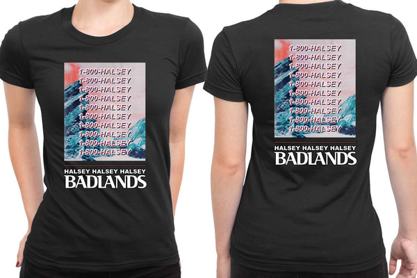 1 800 Halsey Badlands 2 Sided Womens T Shirt