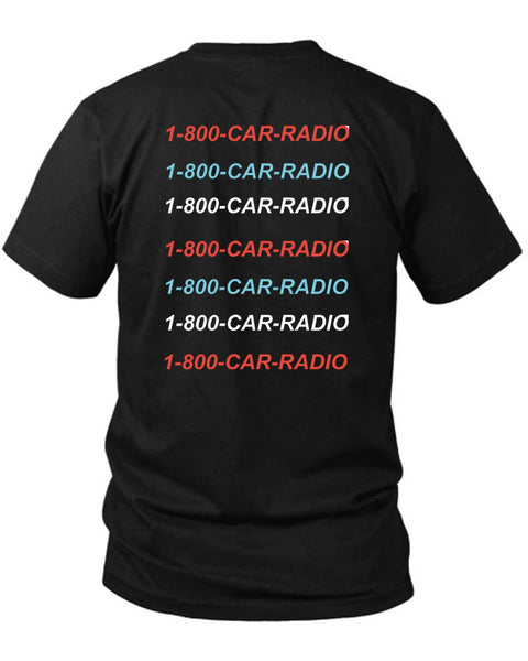 1 800 Car Radio Hotlinebling Twenty One Pilots Edition 2 Sided Black Mens T Shirt