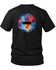 21 Pilots Band Logo 2 Sided Black Mens T Shirt