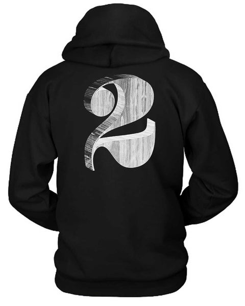 2 Wood Effect Hoodie Two Sided