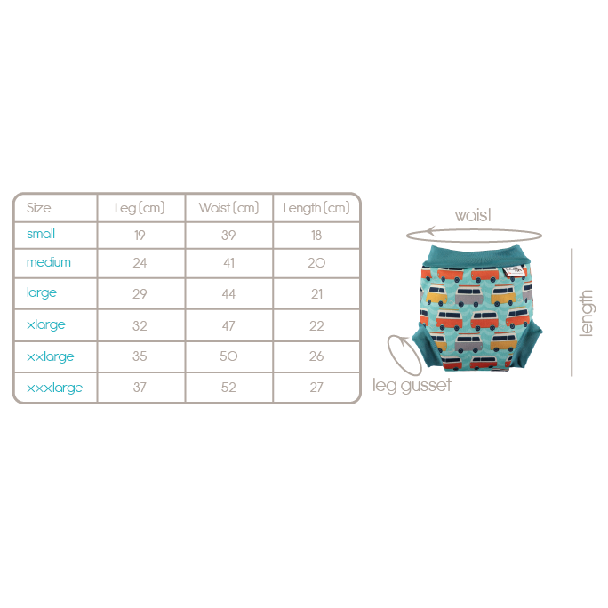 Pop-in reusable swim nappies