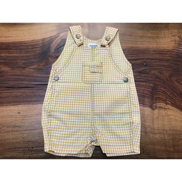 Yellow Gingham Overalls