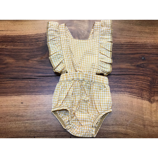 Yellow Gingham Playsuit
