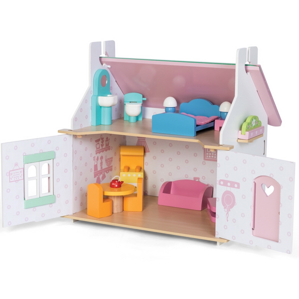 Lily's Cottage Dolls House + Furniture