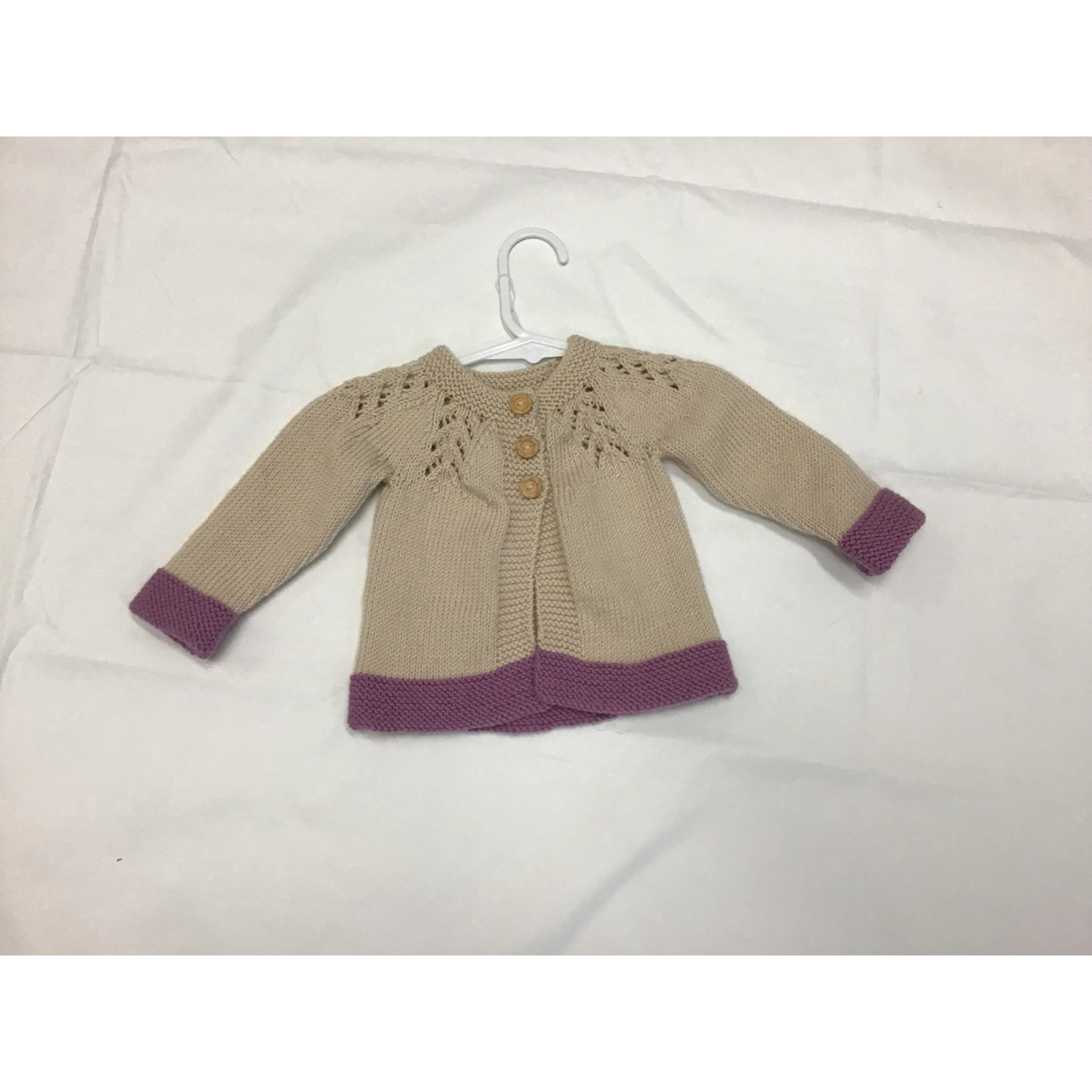 Hand knitted jacket 0-3 mths