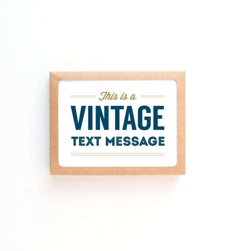Graphic Anthology - Vintage Text Message Greeting Card
