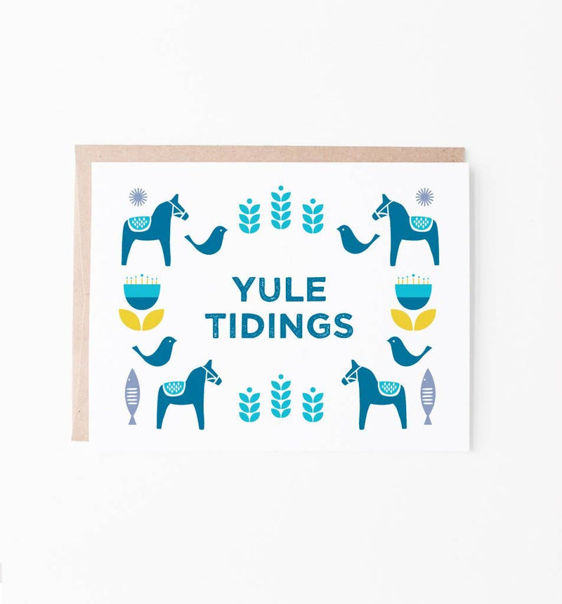 Graphic Anthology - Yule Tidings Scandinavian-inspired Christmas Card