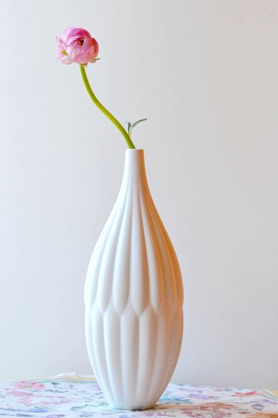 Textured Porcelain Vase - Tall