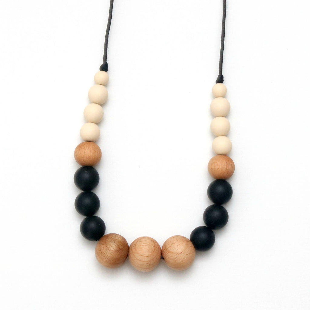 Getting Sew Crafty - Teething Necklace - Isla - Black