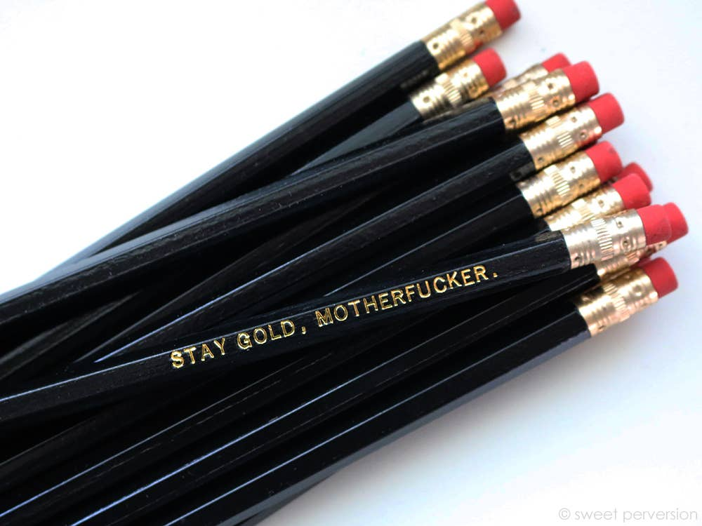 Sweet Perversion - Stay Gold Motherf*cker Black Pencil Set