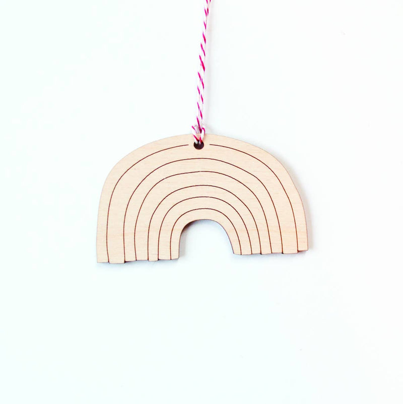 Graphic Anthology - Rainbow laser-cut ornament