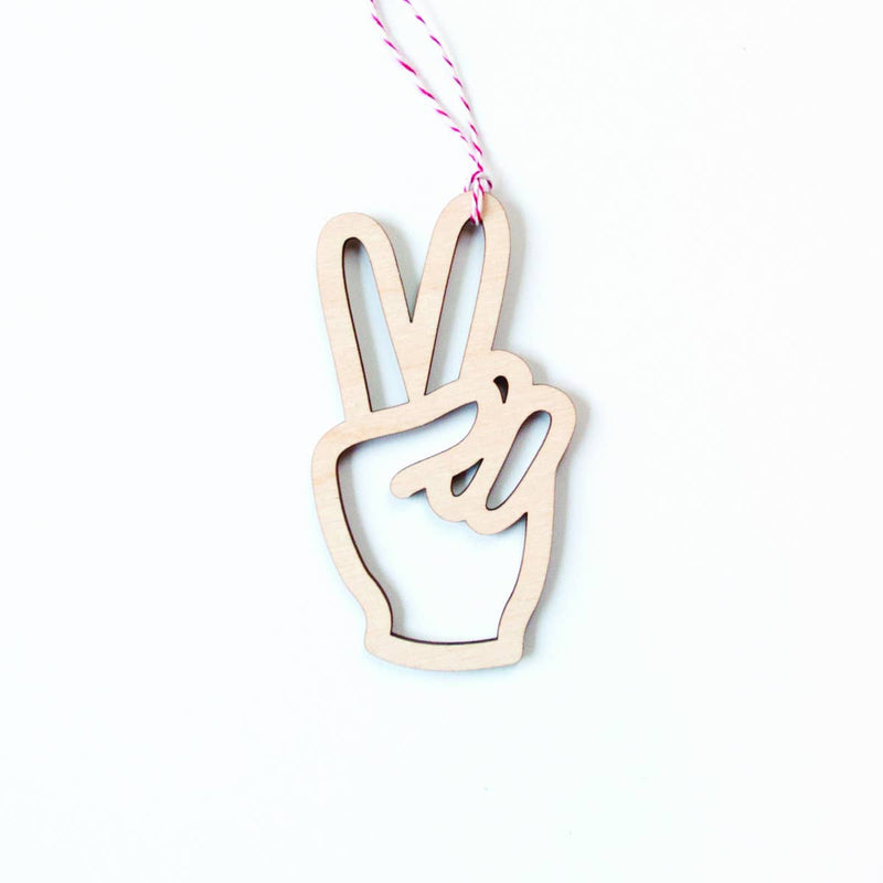 Graphic Anthology - Peace laser-cut ornament