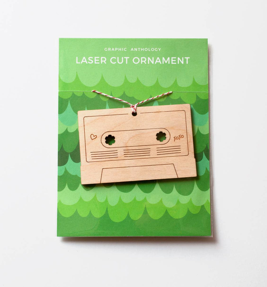 Graphic Anthology - Mix Tape laser-cut ornament