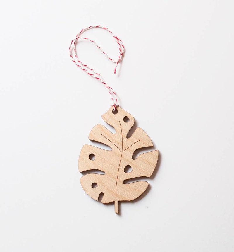 Monstera laser-cut Ornament