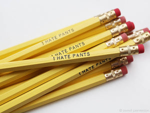 Sweet Perversion - I Hate Pants Yellow Pencil Set