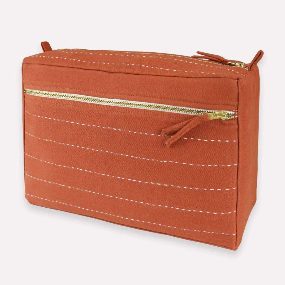 Anchal - Large Rust Toiletry Bag