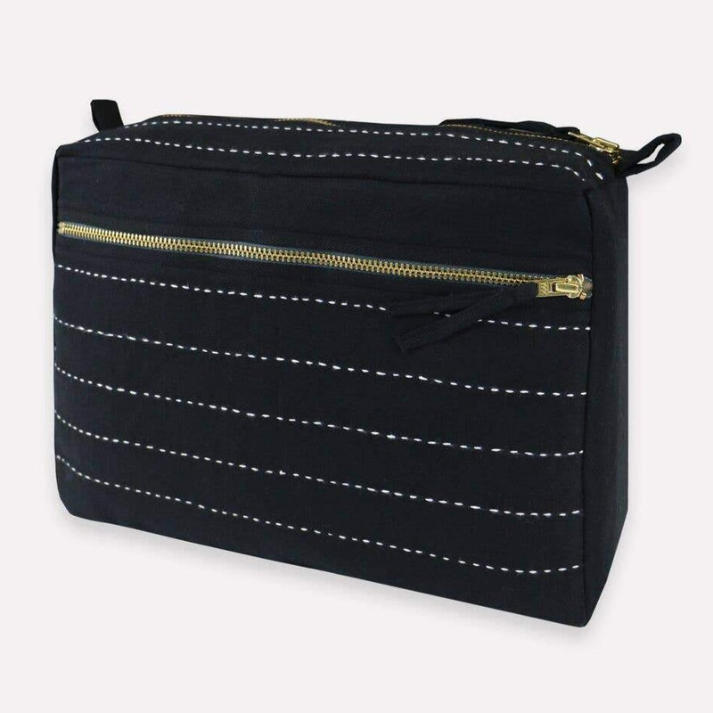 Anchal - Large Charcoal Toiletry Bag