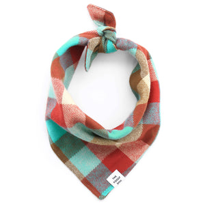 The Foggy Dog - Taos Flannel Dog Bandana