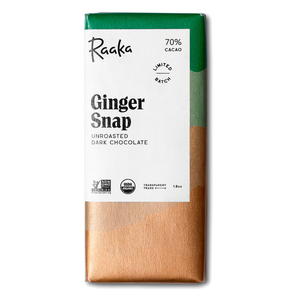 Raaka Chocolate - Limited Batch Ginger Snap (70% Cacao)