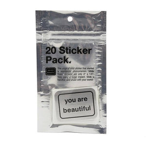 You Are Beautiful - 20 Sticker Pack