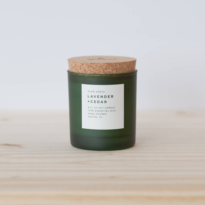 Lavender + Cedar Candle by Slow North