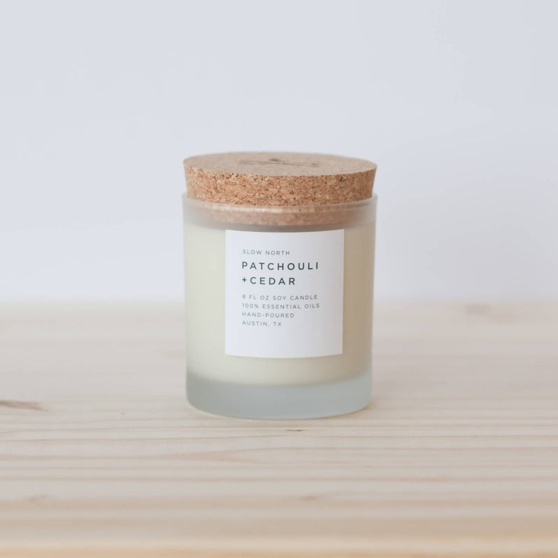 Patchouli + Cedar Candle by Slow North