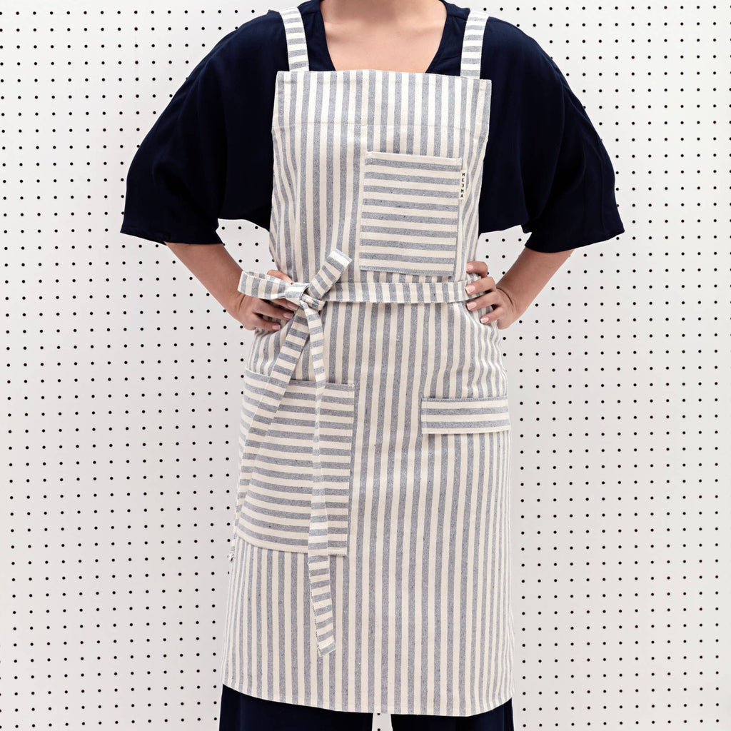 MEEMA - Striped Crossback Bib Apron