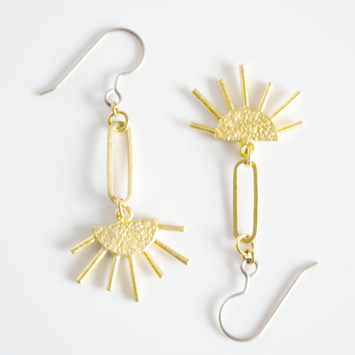 Grey Theory Mill - Sun Dangle Earrings