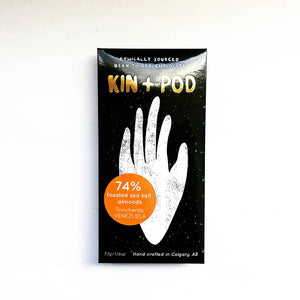 Kin+Pod Chocolate Incorporated - 74% Toasted Sea Salt Almonds Venezuela Trincheras