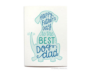 Hennel Paper Co. - Happy Father's Day Card From The Dog