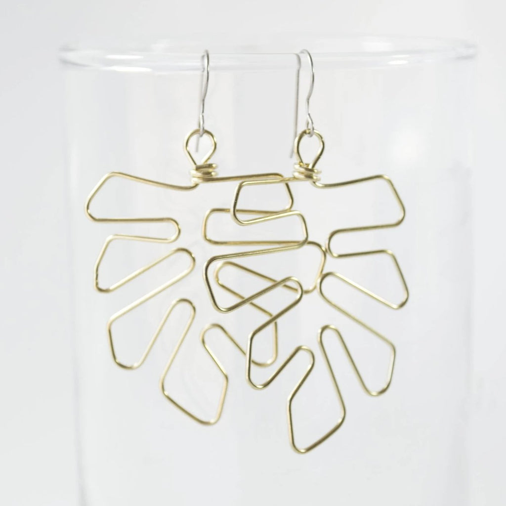 Monstera Leaf Dangle Earrings