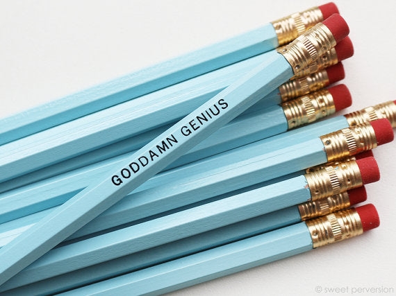 Sweet Perversion - God**** Genius Pastel Blue Pencil Set