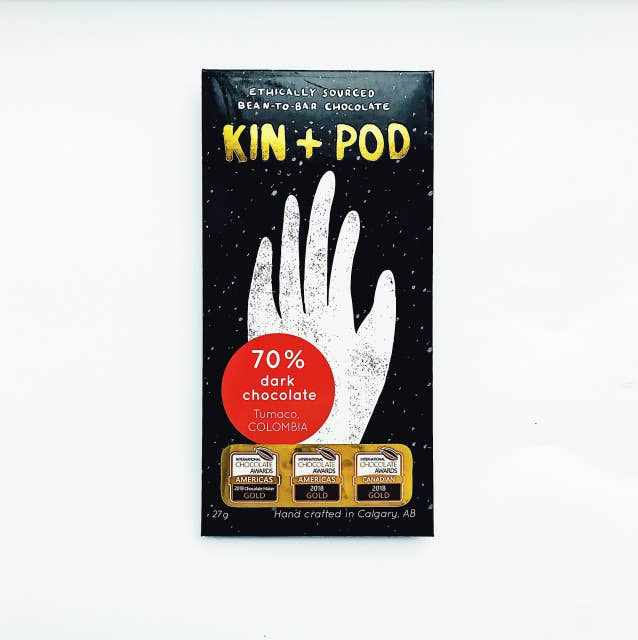 Kin+Pod Chocolate Incorporated - 70% Tumaco Colombia Chocolate
