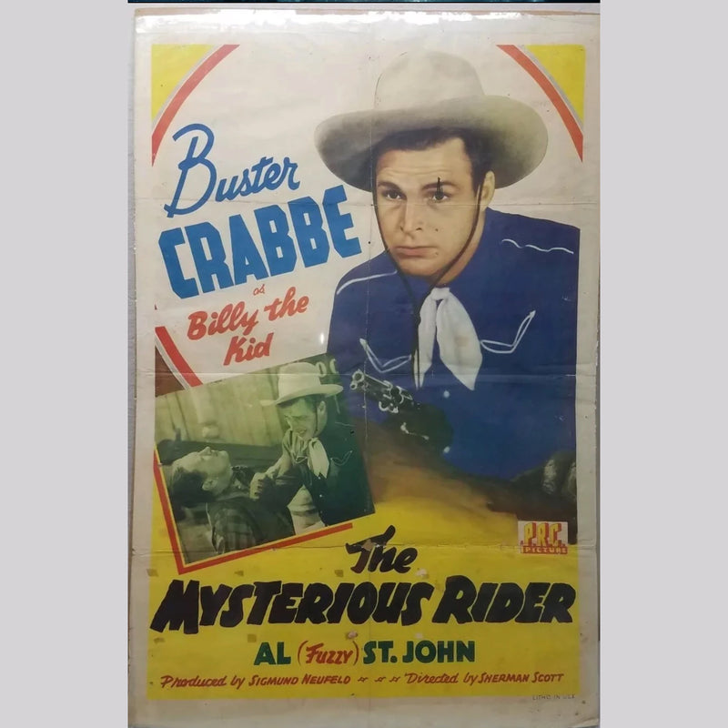 Billy The Kid Poster - Buster Crabbe